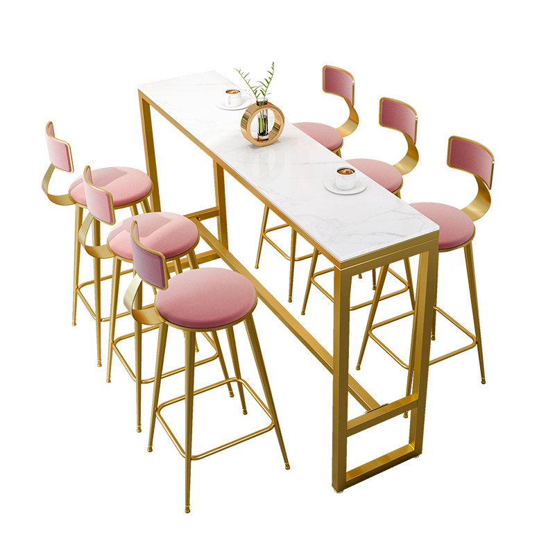 Bar Table Light Luxury Simple Long Table Yang Net Red Wall High Table Home Nordic Partition Bar Chair