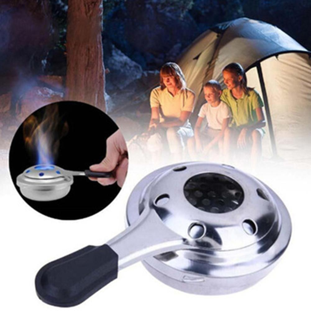 Stainless Steel Burner Mini Portable For Outdoor Backpacking Camping Cooking Alcohol Stove Spirit Burner With Adjusting Handle
