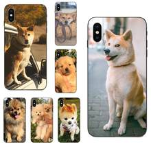 For Apple iPhone 4 4S 5 5S SE 6 6S 7 8 Plus X XS Max XR Diy Beautiful Phone Accessories Case Shibainu Dog(China)