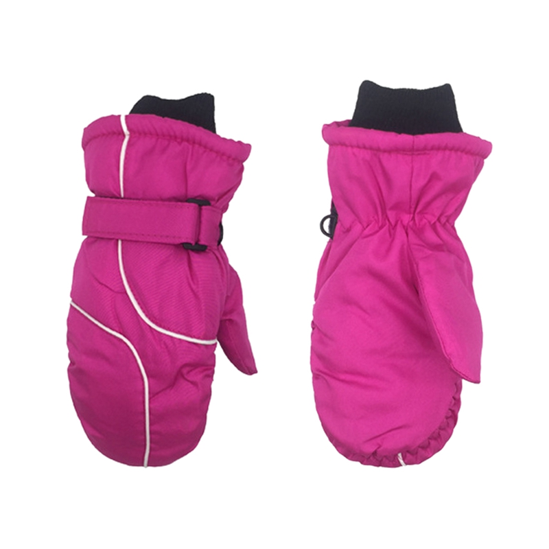 Популярные Нескользящие Детские лыжные перчатки, ветрозащитные водонепроницаемые детские зимние варежки, утепленные варежки для девочек и мальчиков, детские варежки, теплые перчатки для детей - Цвет: 1
