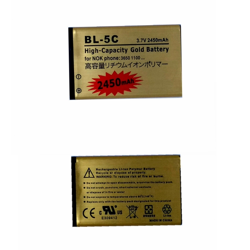 BL-5C Replacment Bateria for <font><b>Nokia</b></font> 2610 2600 2300 6230 6630 n70 n71 1112 <font><b>1208</b></font> 1600 1100 1101 Battery Accumulator for <font><b>Nokia</b></font> Phone image