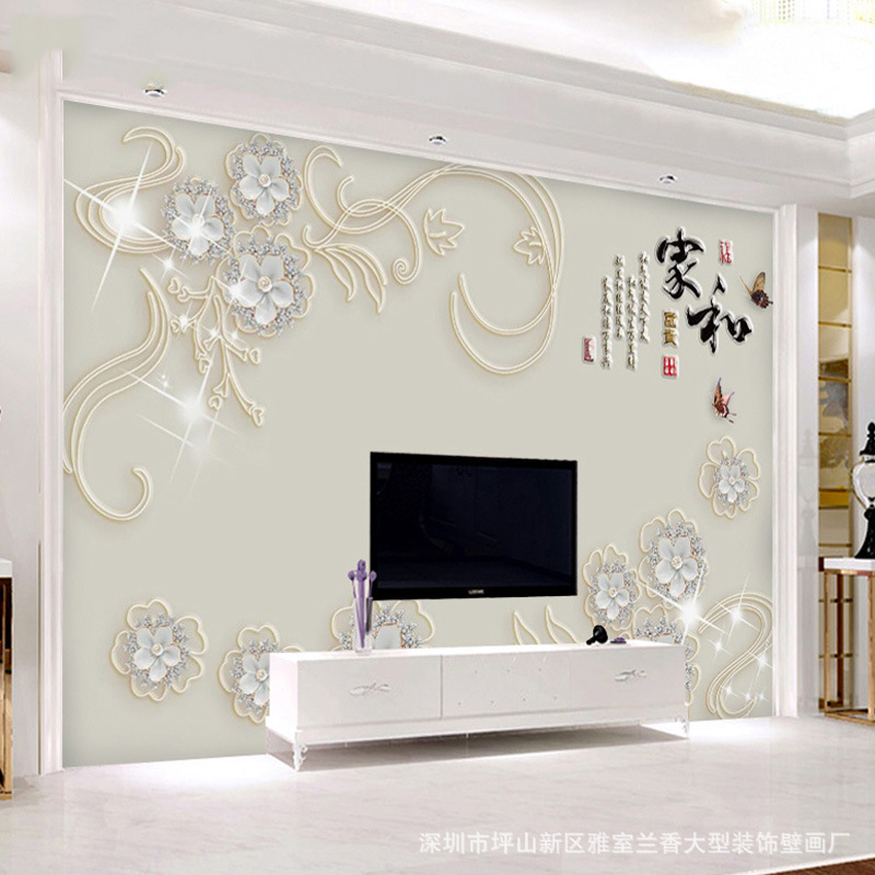 8D Background Of Television In The Drawing Room Wallpaper 3D Wallpaper Mural Modern Minimalist Sofa Seamless Wall Cloth Waterpro