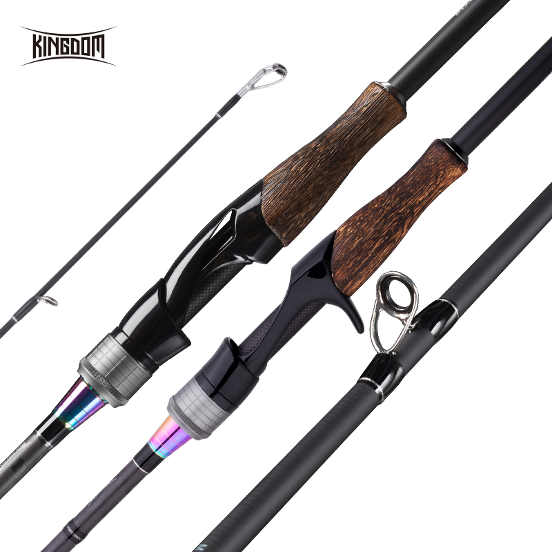 Kingdom KING PRO Spinning Rod Casting Fishing Rods 2pc Top Section 2 different power Feeder rods High Quality Fishing Travel Rod