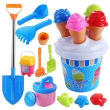Пляжные игрушки набор мороженого и торта серии песка прессформы набор, 13 частей игрушки набор R7RB