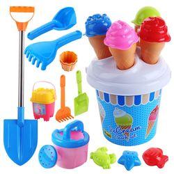 Brinquedos de praia conjunto sorvete e bolo série molde areia conjunto, 13 peças brinquedos conjunto r7rb