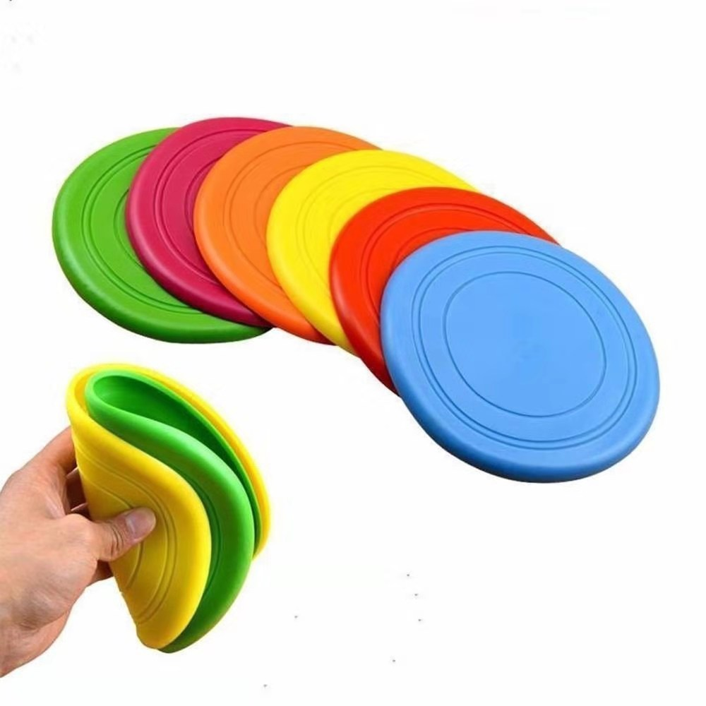 Interactive dog soft rubber puppies toy UFO dog chew toy pet training supplies(China)