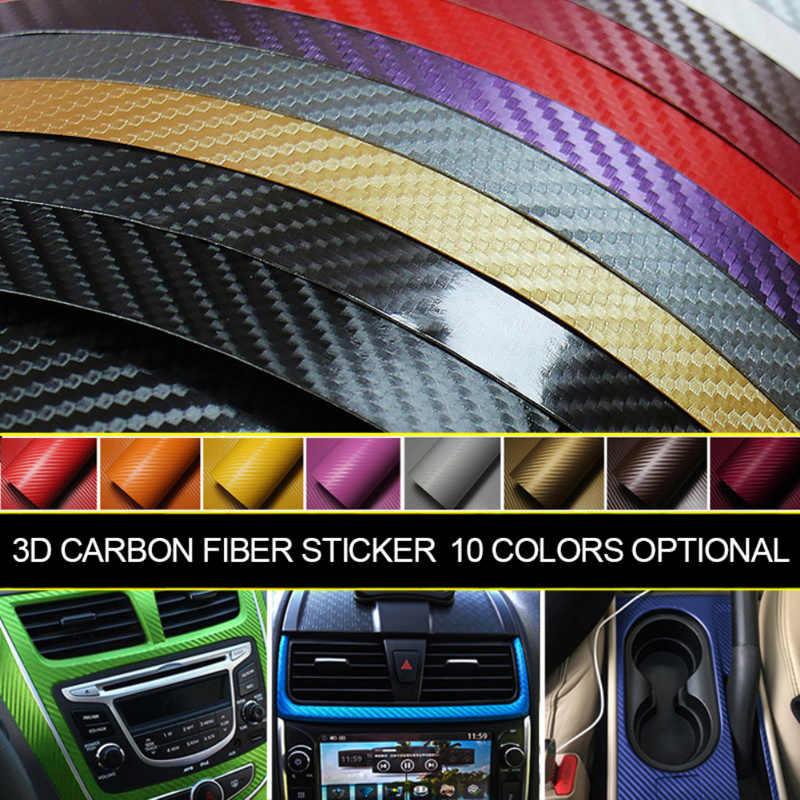 127X10cm 3D Carbon Fiber Vinyl Xe Bọc Tấm Cuộn Phim Xe Ô Tô Và Đề Can Xe Máy Trang Trí Nội Thất Xe Hơi Mô Hình