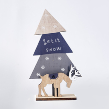 Supplies Party Decor Home Garden Elk Xmas Ornament Wooden Crafts Christmas Tree