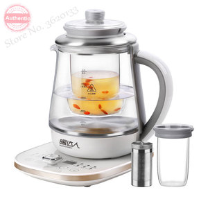 Thermal Insulation Electric Kettle Timed Glass Health Preserving Pot Flower Tea Brewer 1.8L Microcomputer Control 1200W 220V(China)