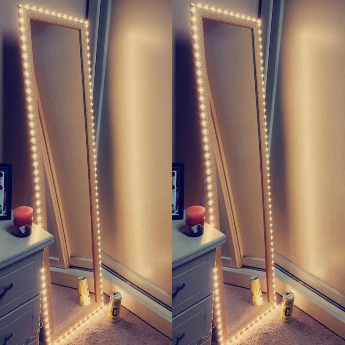 Mirror Makeup Vanity Light 5v Usb Flexible Led Light For Mirror Diy Makeup Light For Tv Backlight 1m 5m Kitchen Desk Decor Light Vanity Lights Aliexpress