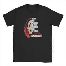 T-Shirt «La Casa De Papel» pour homme, col rond, Vintage, en coton, idée cadeau, série télévisée La Casa De Papel