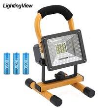 מבול אור חיצוני הארה נטענת כף יד LED COB עבודת אור זרקור זרקור קמפינג פנס מנורת בניית