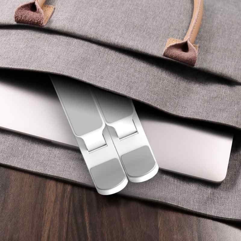 ABS حامل الكمبيوتر المحمول لماك بوك اير برو دفتر قابل للتعديل طوي قابل للتعديل الألومنيوم حامل الكمبيوتر المحمول لأجهزة الكمبيوتر المحمول