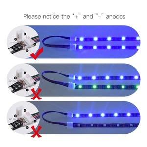 5Pcs 15cm 4 Pin 4 Pin 5050 3528 LED RGB Streifen Verlängerung Stecker Kabel Draht LED Strip Erweiterung kabel Clip Großhandel & DropShip