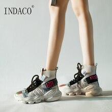 Women Sneakers High Top Shoes Woman Fashion Platform 4cm