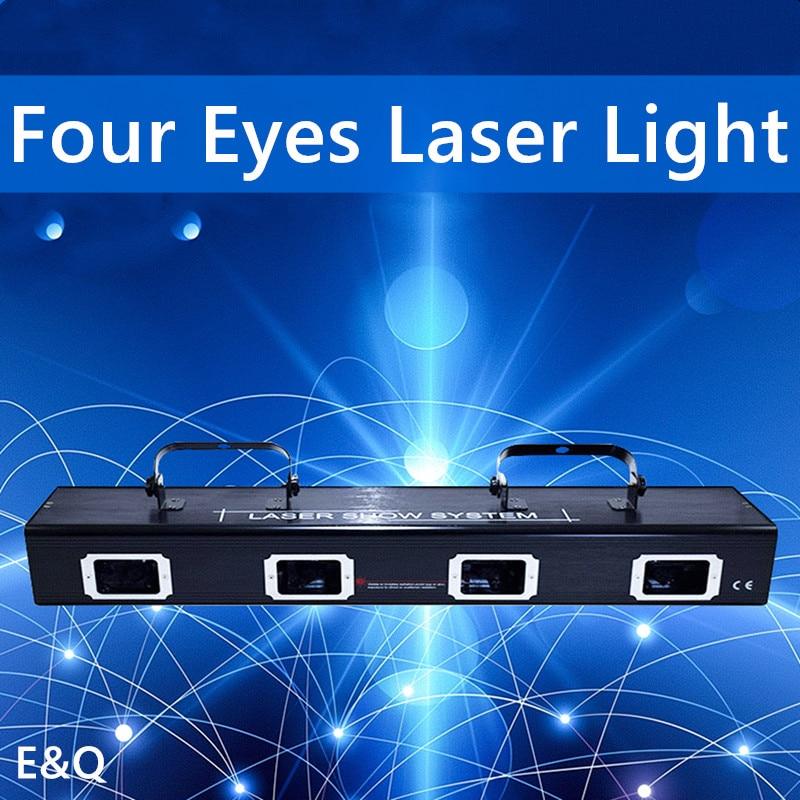 Четыре прочных линзы RGBY, система лазерного шоу, сценическое украшение для дискотеки, Рождественское украшение, Лазерное освещение, проект