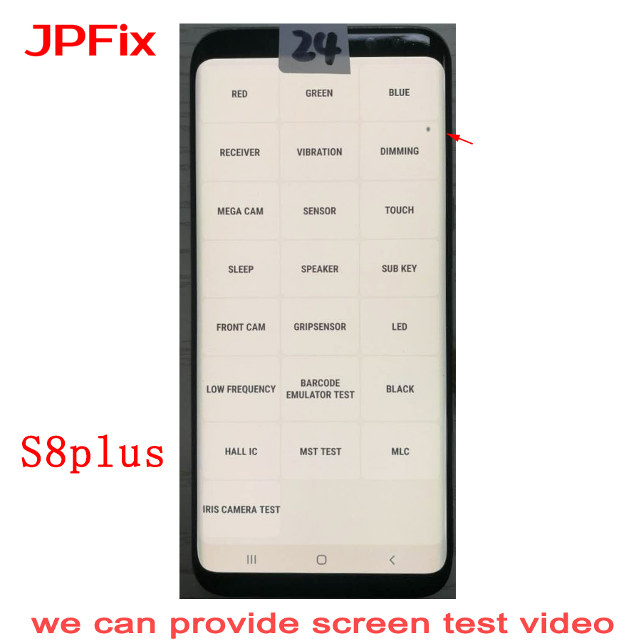 JPFix AMOLED 삼성 S8 Plus G955 LCD 터치 스크린 디스플레이 디지타이저 Dot Shadow With Frame Replacement image