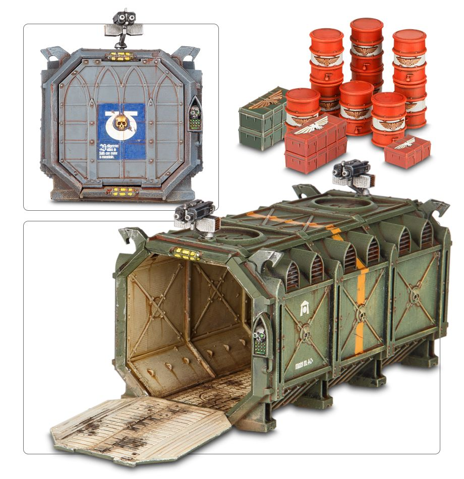 Battle Hammer 40K Munitorum Armoured Containers For Gloomhaven War Table Board Games Wood Model Wooden Panel Laser Cutting