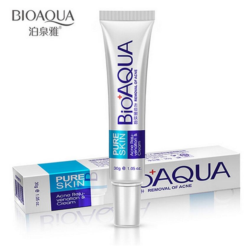 BIOAQUA 30g Acne Treatment Blackhead Removal Anti Acne Cream Oil Control Shrink Pores Acne Scar Remove Face Care Whitening