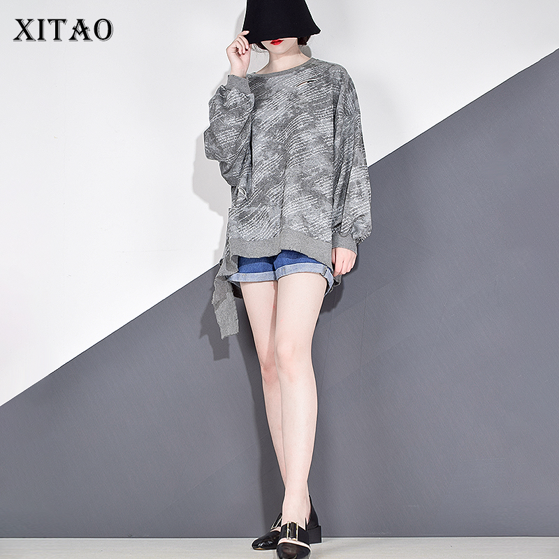 XITAO Plus Size Print Pattern Sweatshirt Women Clothes 2020 Autumn New Fashion Pullover Full Sleeve Match All Casual Top WLD2667 1