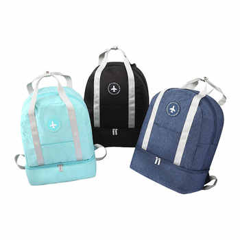 Dry and Wet Separation Fitness Backpack Waterproof Travel Backpack Large Capacity Sports Gymbag School Backpack For Teenage Girl