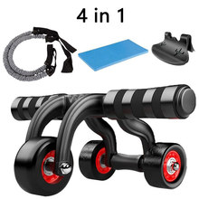 No Noise 3 Wheels Abdominal Roller Home Fitness Equipment Muscle Exercise Body Arm Waist Gym AB Exercise Power Muscle Trainer