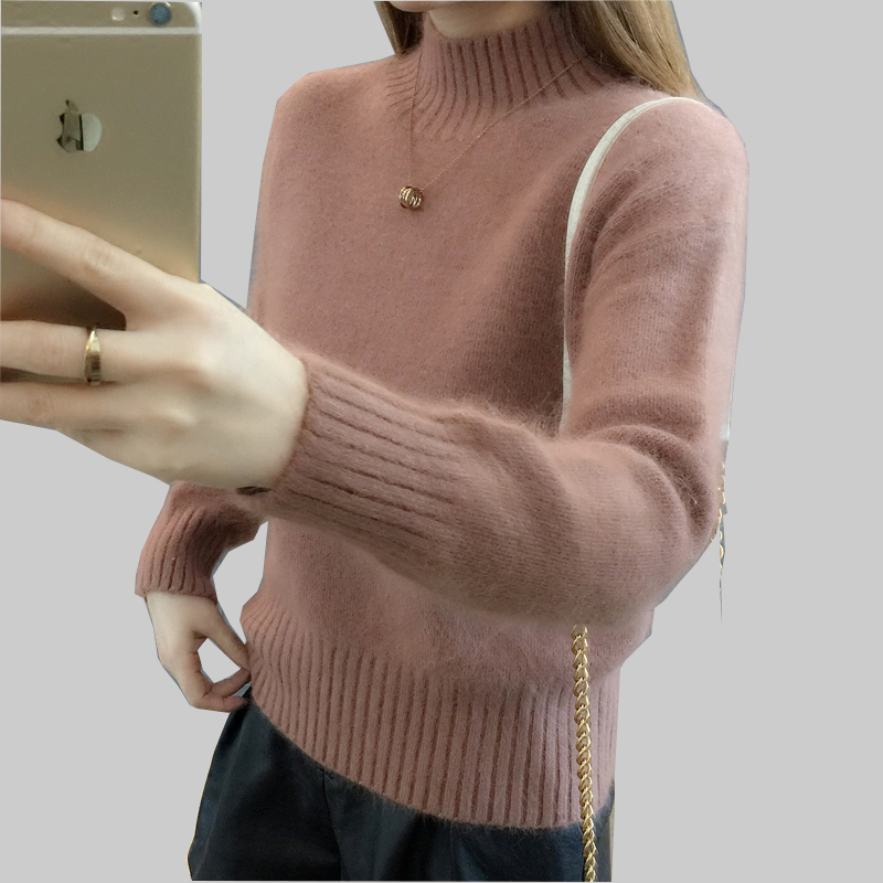 Winter Women's Cashmere Sweaters High Quality Long Sleeve Mohair Sweater Warm Knitting Pullover Plus Size Sweater For Woman