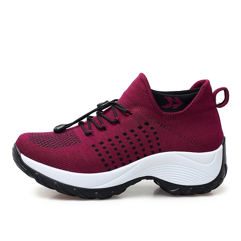 mesh breathable women casual shoes korean platform ladies comfortable sneakers high increasing female moccasins vulcanized woman (33)