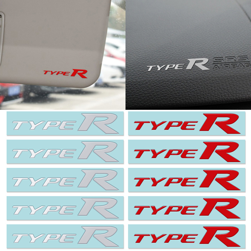 Car Styling 3D TYPER TYPE R Racing Letter Logo Emblem Badge Decal Sticker For HONDA Mugen Auto Interior Decoration Accessories