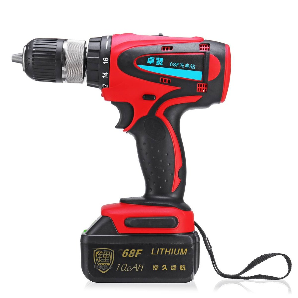 18V Cordless 2Speed Lithium Power Drill Driver Electric Screwdriver with Case De