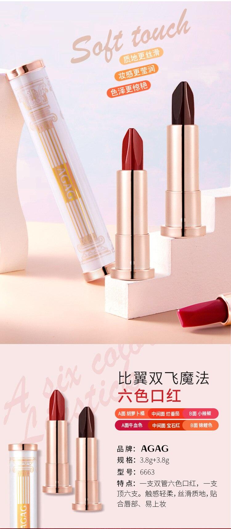 duração à prova dlong água cosméticos maquiagem batons