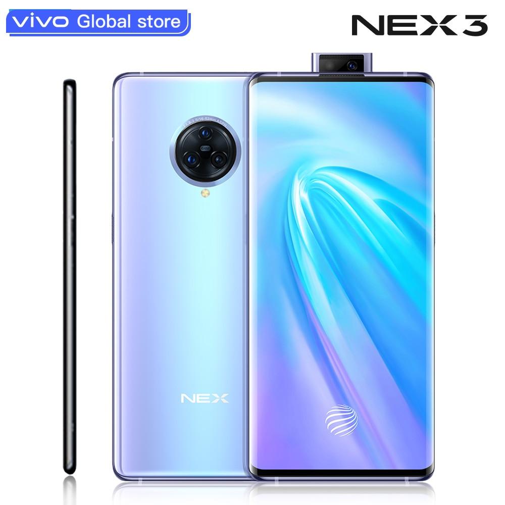 Téléphone portable vivo NEX 3 4G Original 8G 128G Snapdragon 855 Plus téléphone 6.89 pouces écran 64MP caméra 4500mAh smartphone