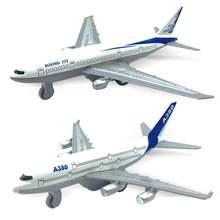 2 шт мини симуляция 777 a380 потяните назад самолет Модель Коллекционная