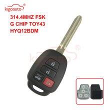 Kigoauto hyq12bdm дистанционный ключ 4 кнопки toy43 лезвие 3144