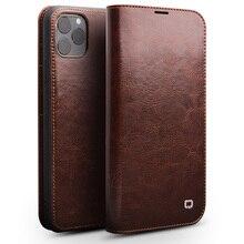 اليدوية جلد طبيعي حقيبة لهاتف أي فون 11 برو ماكس حالة محفظة حقيبة بفتحة لإخراج البطاقة فليب غطاء ل فون 11 برو ماكس Pretection غطاء