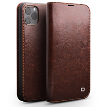 Handmade Genuine Leather Case For iPhone 11 Pro Max Case Wallet Card Slot Bag Flip Cover For iPhone 11 Pro Max Pretection Cover