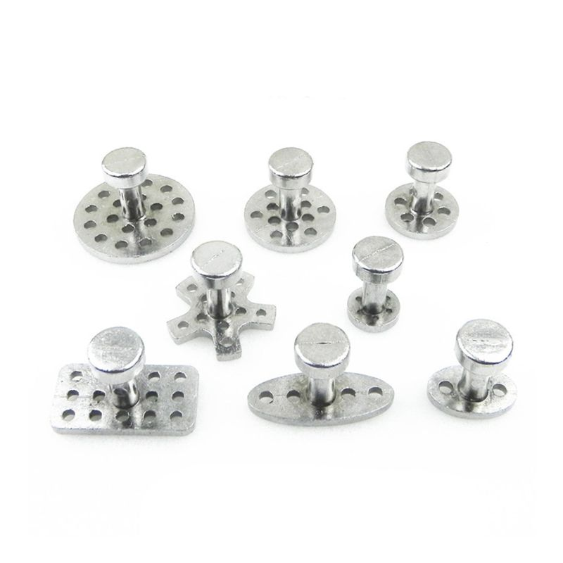 8Size with 8pcs Auto PDR Tool Kit Aluminum Glue Puller Tabs for Car Suction Cup 28TB
