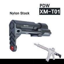 Pdw XM-T01 brinquedo tático de plástico arma estoque gel blaster atualização estoque estendido atualização parte acessórios substituição