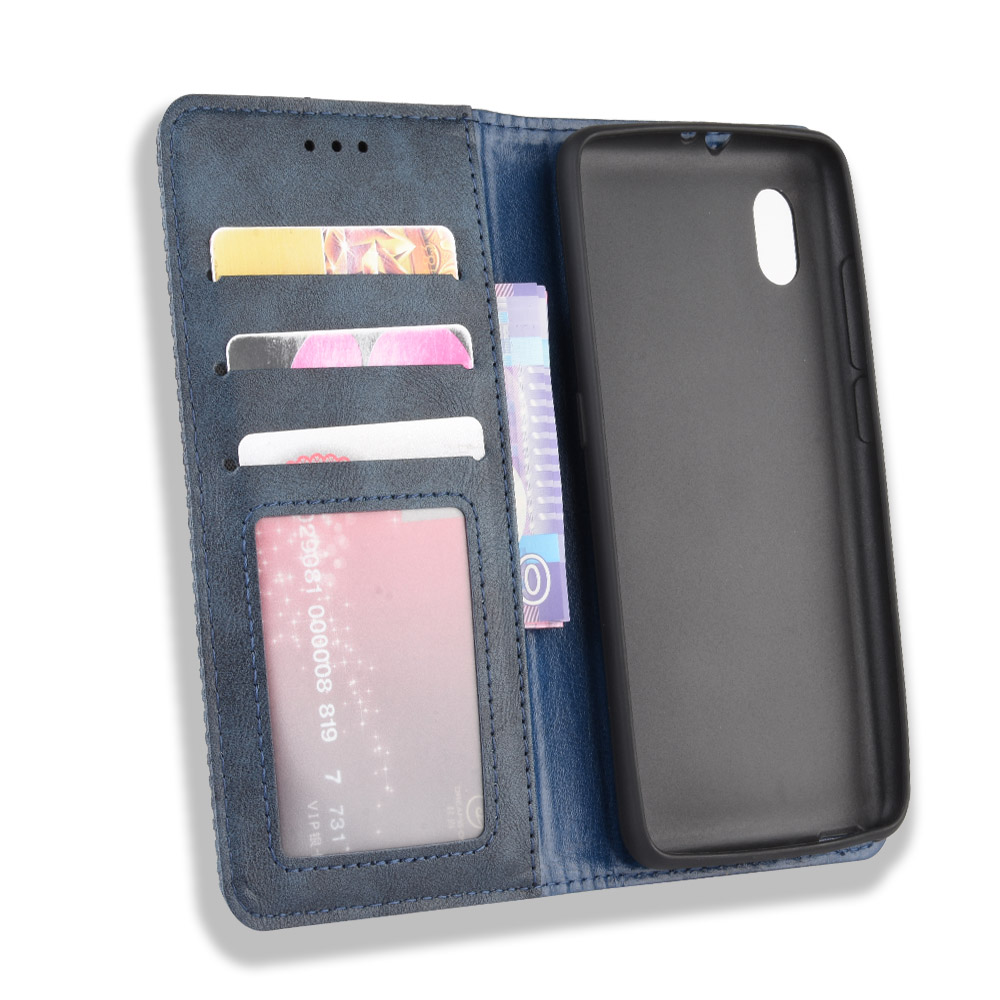 Laybomo Cover for Alcatel 1B Leather Flip Wallet Magnetic Closure Full Protection Design with Kickstand Mirage for Alcatel 1B 2020 Case Card Slots and 2020 Phone Case