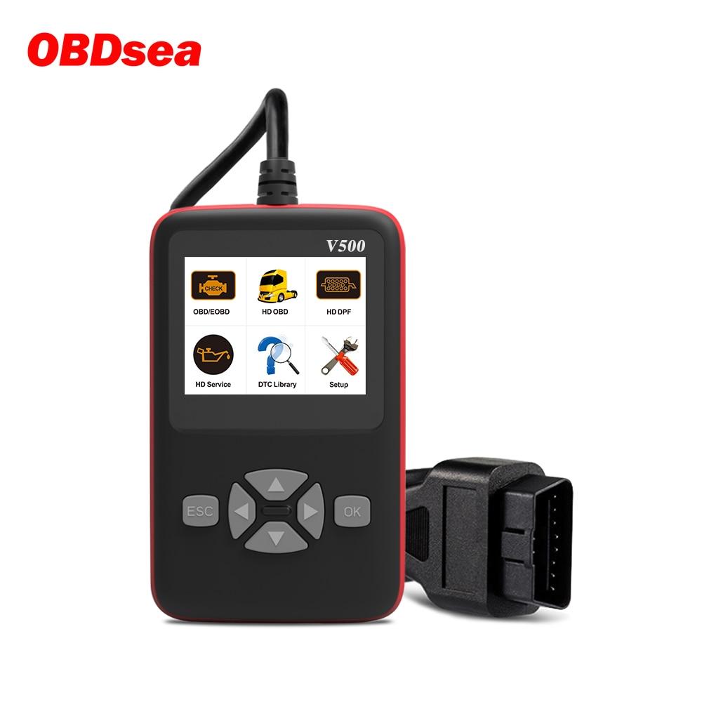 V500 Auto Lkw Obd2 Scanner für Auto Lkw Heavy Duty Auto Code Reader DPF Öl Reset CR-HD Auto Diagnose Werkzeug PK NL102P