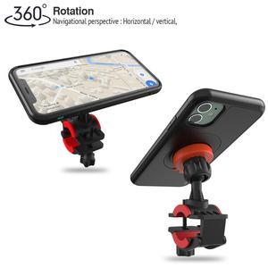 Image 4 - אופני אופניים אופנוע כידון הר מחזיק טלפון סלולרי תיק Bracke עם עמיד הלם מקרה הגנת Stand עבור iPhone 11 Pro מקסימום