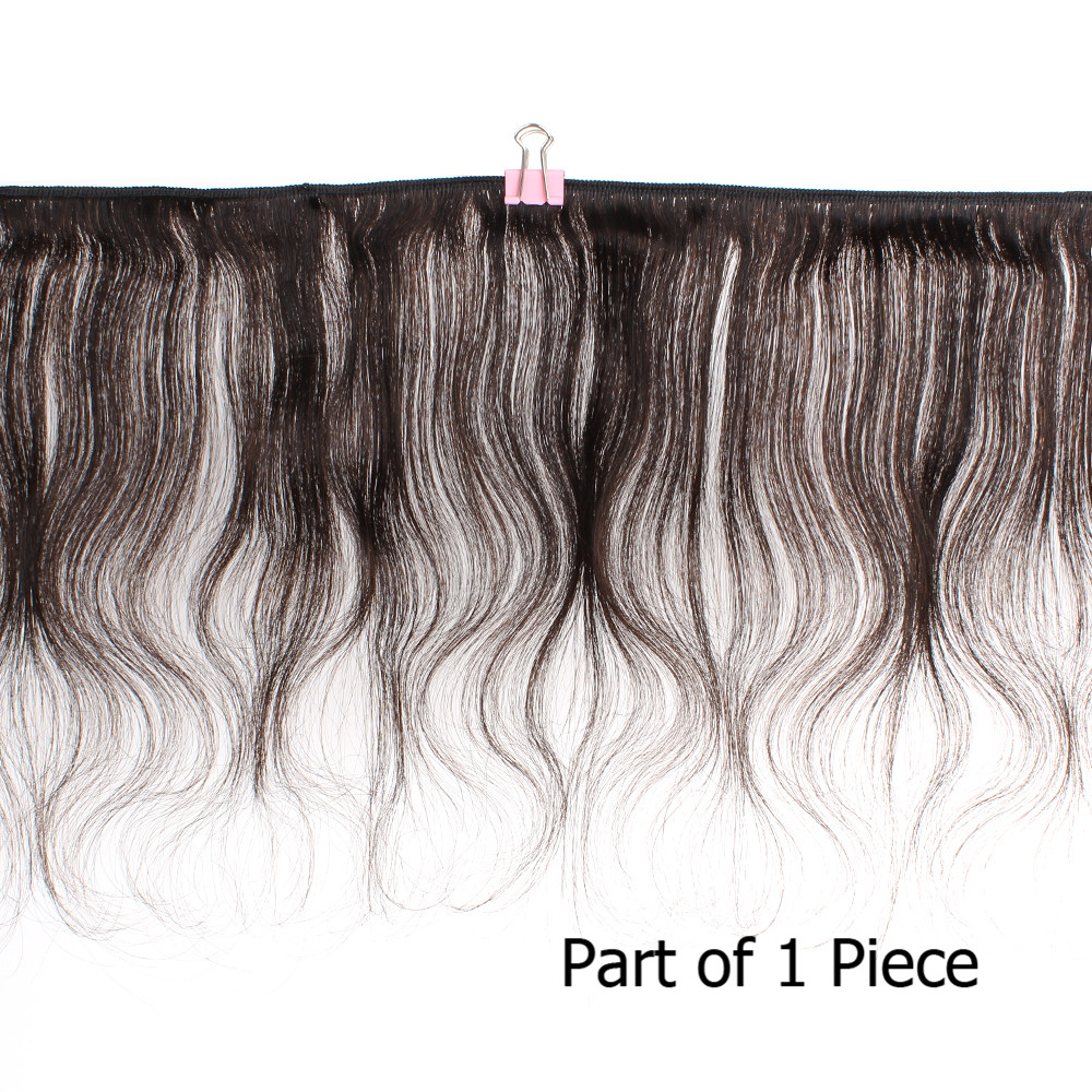 MOGUL HAIR 50g/pc 4 Bundles with 2x6 Kim K Lace Closure Dark Brown Brazilian Body Wave Non Remy Human Hair Short Bob Style