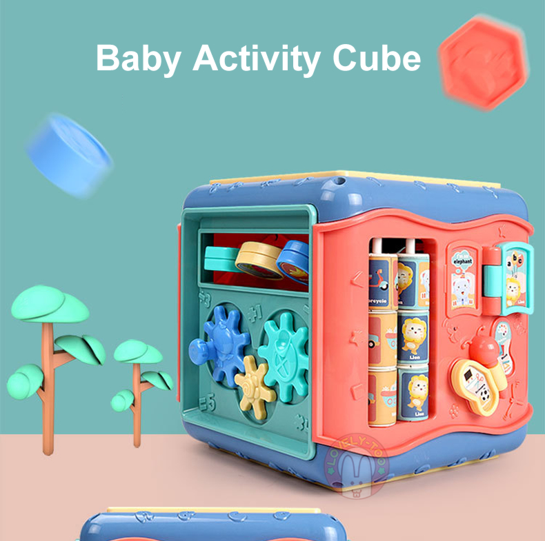 Baby Toys Activity Play Cube Music Instuments Montessori Shape Match Infant  Development Educational Box For Kids 13 24 Months|Sorting, Nesting &  Stacking toys| - AliExpress