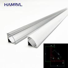 1-10 шт. 50 см светодиодный светильник в форме V треугольный алюминиевый профиль mikly/прозрачная крышка разъем зажим канал для 10 мм PCB полосы