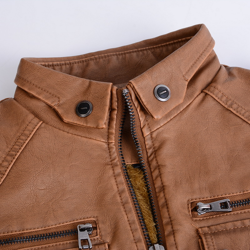 Hfb2ac255a9324bcbaf2c449a0ef3add7M Luxury 2019 Leather Jackets Men Autumn Fleece Zipper Chaqueta Cuero Hombre Pockets Moto Jaqueta Masculino Couro Slim Warm Coat