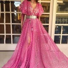 Eightree с глубоким v образным вырезом ярко розовые платья для