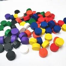 80 peças circulares redondas do jogo de madeira do peão dos pces 10*5mm peão colorido/xadrez para o jogo de tabuleiro/jogos educativos