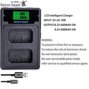 Image 2 - 4Pcs 2000mAh NP FW50 NP FW50 Batteria + LED USB Doppio Caricatore per Sony Alpha a6300 a6500 a7 7R a7R a7R II a7II NEX 3 NEX 3N NEX 5