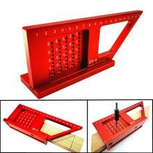 Stop aluminium obróbka drewna Scribe Mark linia Gauge linijka kwadratowy układ Miter 45 + 90 stopni Metric Gauge pomiarowe narzędzia pomiarowe