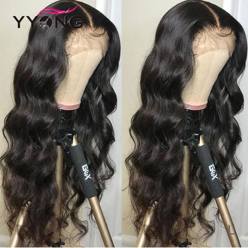 YYong 1x4& 1x6 Topline Lace Part Wig Body Wave Part Lace  Wig   Body Wave HD Transparent Lace Wigs 120% 4